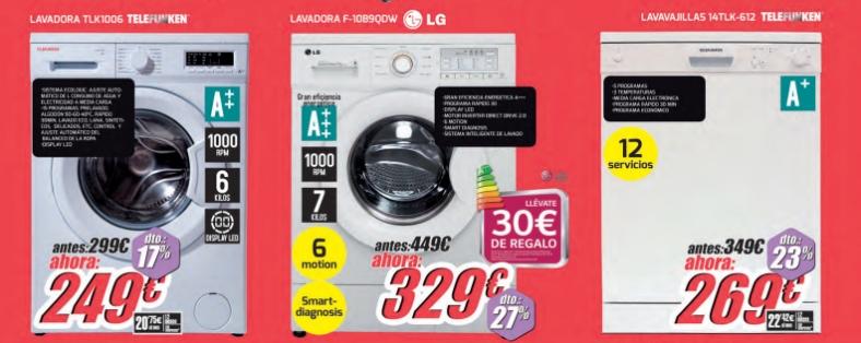 Lavadoras en rebajas en Diego Mendoza Electrodomésticos